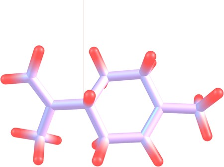 precursor: Limonene is a colorless hydrocarbon classified as a cyclic terpene. The common d-isomer possesses a strong smell of oranges. It is used in chemical synthesis as a precursor to carvone. 3d illustration