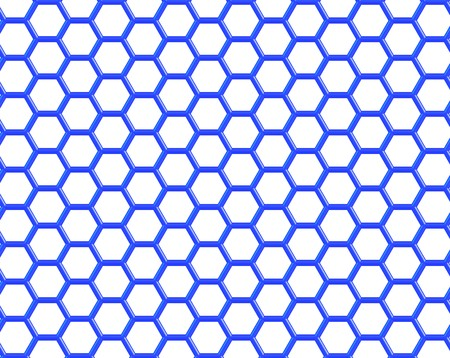 Graphene is a crystalline allotrope of carbon with 2-dimensional properties. 3d illustration of graphene molecular structure in blue