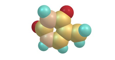 Thymine - T, Thy - is one of the four nucleobases in the nucleic acid of DNA. 3d illustration Stock Photo