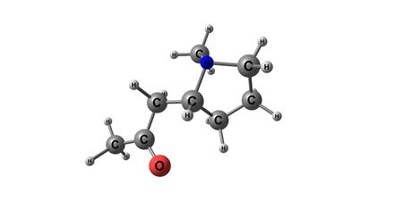 Hygrine molecular structure isolated on white