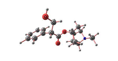 belladonna: Hyoscyamine molecular structure isolated on white Stock Photo