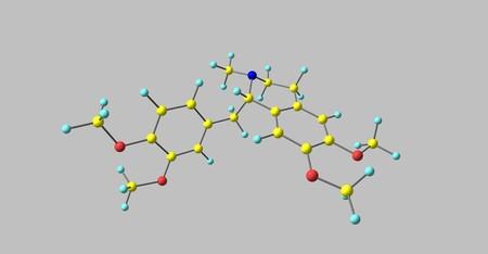 Laudanosin oder N-methyltetrahydropapaverine ist ein anerkannter Metabolit von Atracurium und Cisatracurium. Laudanosin verringert die Anfallsschwelle. 3D-Darstellung Standard-Bild