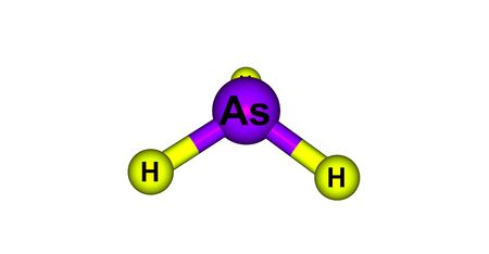 hydride: Arsine molecular structure isolated on white