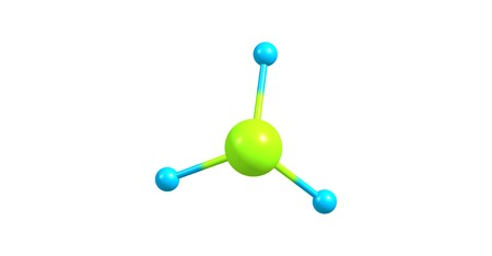 hydride: Phosphine or phosphane is the compound with the chemical formula PH3. It is a colorless, flammable, toxic gas and pnictogen hydride. 3d illustration