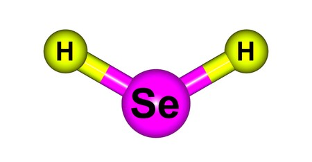 hydride: Hydrogen selenide is an inorganic compound with the formula H2Se. This hydrogen chalcogenide is the simplest and most commonly encountered hydride of selenium. 3d illustration