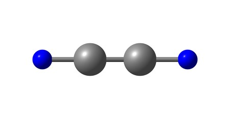 reagent: Cyanogen is the chemical compound with the formula CN2. It is a colorless, toxic gas with a pungent odor. The molecule is a pseudohalogen. 3d illustration