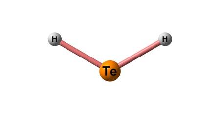 수소 텔루 라이드 분자 구조 화이트 절연