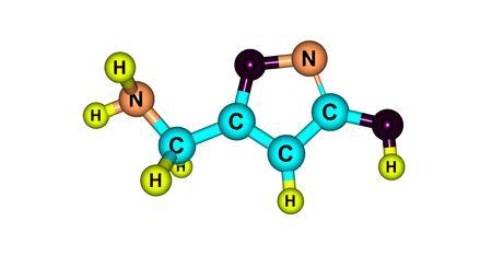 Le muscimol ou l'agarine ou la pantherine est le principal constituant psycho-actif d'Amanita muscaria et d'espèces apparentées de champignons. Illustration 3d Banque d'images - 78538827