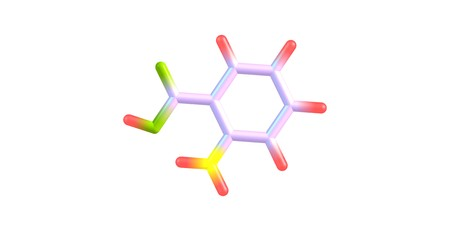 classed: Anthranilic acid is an aromatic acid with the formula C6H4NH2CO2H. The molecule consists of a substituted benzene ring, hence is classed as aromatic. 3d illustration