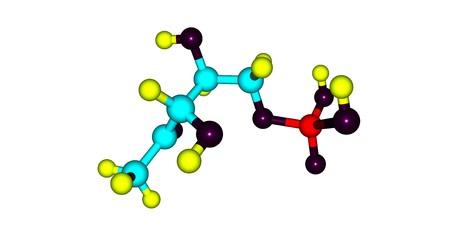 Dihydrogen phosphate or DOXP compound on white background. 3d illustration