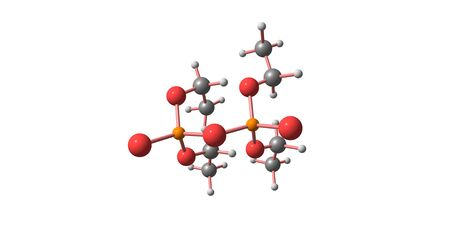 Tetraethyl pyrophosphate or TEPP is an organophosphate compound, which is used as an insecticide. This compound is a clear, colorless liquid. 3d illustration Stok Fotoğraf