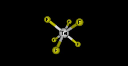 fluorine: Tellurium hexafluoride is a chemical compound of tellurium and fluorine with the chemical formula TeF6. It is a colorless, highly toxic gas with an extremely unpleasant smell. 3d illustration