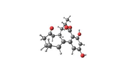 Zearalenone or ZEN, also known as RAL and F-2 mycotoxin, is a potent estrogenic metabolite. 3d illustration 版權商用圖片 - 81230237