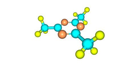 2,4,6-Trimethyl-1,3,5-triazine is an organic heterocyclic compound with the formula C6H9N3. 3d illustration
