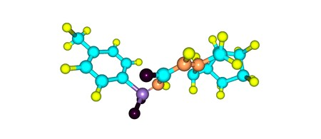apoptosis: Gliclazide molecular structure isolated on white