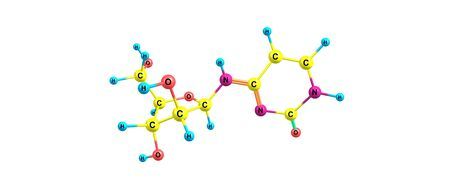 Cytarabine or cytosine arabinoside is a chemotherapy medication used to treat acute myeloid leukemia, acute lymphocytic leukemia, chronic myelogenous leukemia. 3d illustration