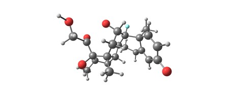 Dexamethasone is a type of corticosteroid medication. It is used in the treatment of many conditions, including rheumatic problems, a number of skin diseases, severe allergies, asthma. 3d illustration