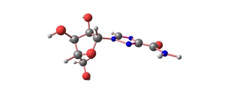Ribavirin molecular structure isolated on white Stock Photo