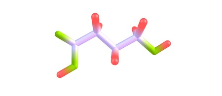 Hydroxybutyric acid or GHB or 4-hydroxybutanoic acid is a naturally occurring neurotransmitter and a psychoactive drug. It is a precursor to GABA, glutamate, and glycine. 3d illustration