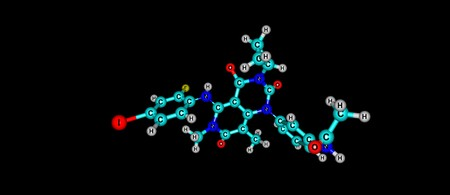 Trametinib is a cancer drug. It is a MEK inhibitor drug with anti-cancer activity. 3d illustration
