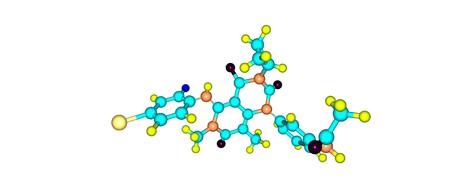 Trametinib is een middel tegen kanker. Het is een MEK-remmend medicijn met antikankeractiviteit. 3D illustratie