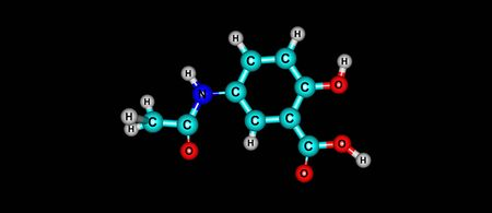 Mesalazine or mesalamine is an aminosalicylate anti-inflammatory drug used to treat inflammatory bowel disease, including ulcerative colitis. 3d illustration Stock Photo