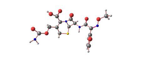 Cefuroxime is an enteral second-generation cephalosporin antibiotic. 3d illustration