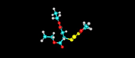 Malathion is an organophosphate insecticide of relatively low human toxicity. It is used in agriculture, residential landscaping, public recreation areas. 3d illustration 版權商用圖片
