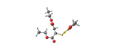 Malathion is an organophosphate insecticide of relatively low human toxicity. It is used in agriculture, residential landscaping, public recreation areas. 3d illustration Stock Photo