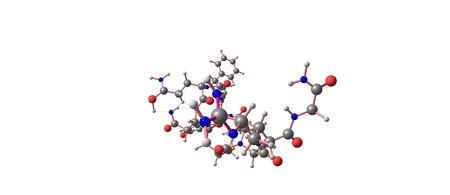 Desmopressin 또는 DDAVP는 당뇨병 소화 불량, bedwetting, 혈우병 A를 치료하는 데 사용되는 약물입니다. 3d 그림