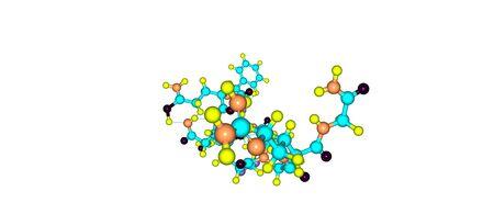 Desmopressin or DDAVP is a medication used to treat diabetes insipidus, bedwetting, hemophilia A. 3d illustration