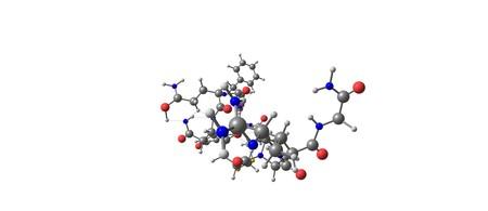 Desmopressin 또는 DDAVP는 당뇨병 소설, bedwetting, 혈우병을 치료하는 데 사용되는 약물입니다. 3d 그림