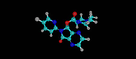 Zopiclone is a nonbenzodiazepine hypnotic agent used in the treatment of insomnia. 3d illustration