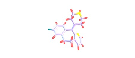 Desloratadine is a tricyclic antihistamine that is used to treat allergies. It is an active metabolite of loratadine. 3d illustration Stock Illustration - 87651298