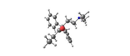 Estructura molecular de metadona aislada en blanco Foto de archivo - 89515725