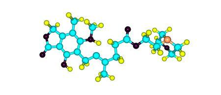 Mycophenolic acid, or mycophenolate, is an immunosuppressant drug used to prevent rejection in organ transplantation. 3d illustration