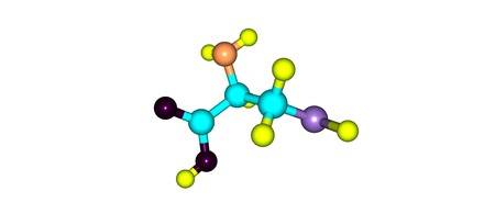 Cysteine or Cys is a semi-essential proteinogenic amino acid with the formula HO2CCHNH2CH2SH. 3d illustration