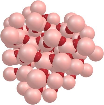 Quartz molecular structure isolated on white background