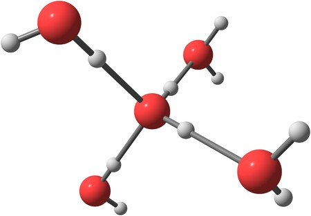 Water H2O is a polar inorganic compound that is at room temperature a tasteless and odorless liquid. 3d illustration Foto de archivo - 95734582
