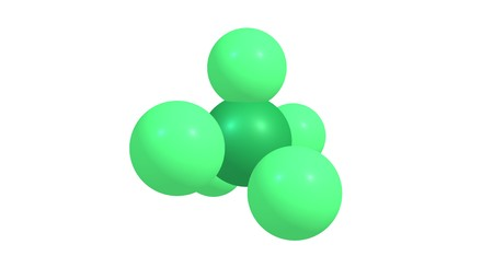 Phosphorus pentachloride molecular structure isolated on white background