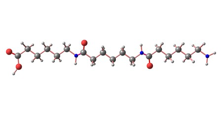 Nylon is a generic designation for a family of synthetic polymers, based on aliphatic or semi-aromatic polyamides. 3d illustration