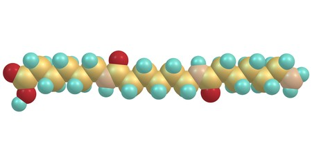Nylon is a generic designation for a family of synthetic polymers, based on aliphatic or semi-aromatic polyamides. 3d illustration Stock Illustration - 97948836
