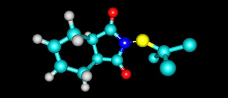 Captan molecular structure isolated on black background 写真素材 - 97948862
