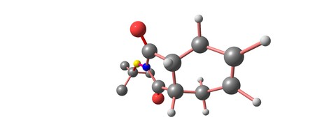 Captan is a general use pesticide that belongs to the phthalimide class of fungicides. 3d illustration