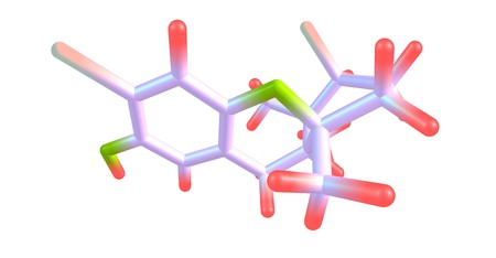 Cymobarbatol is an antimutagenic agent isolated from the marine algae Cymopolia barbata. 3d illustration 写真素材 - 100220683
