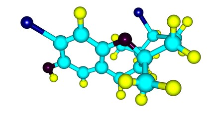 Cymobarbatol is an antimutagenic agent isolated from the marine algae Cymopolia barbata. 3d illustration 写真素材