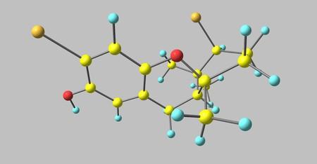Cymobarbatol is an antimutagenic agent isolated from the marine algae Cymopolia barbata. 3d illustration Stock Photo