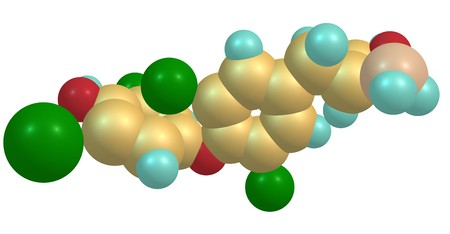 Levothyroxine or L-thyroxine is a manufactured form of the thyroid hormone, thyroxine T4. It is used to treat thyroid hormone deficiency. 3d illustration