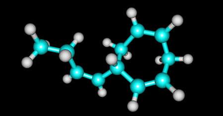 Ectocarpene molecular structure isolated on black Stock Photo