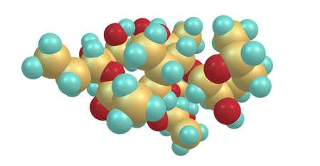 Erythromycin molecular structure isolated on white Stock Photo